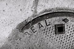 Ral carreau (Marlandova) Tags: street city urban blackandwhite bw film composition square souvenirs remember montral noiretblanc grain trace ground nb hidden sidewalk stop qubec manhole f80 dust capture ville trottoir urbain nostalgy passingby passepartout gout carreau passecarreau