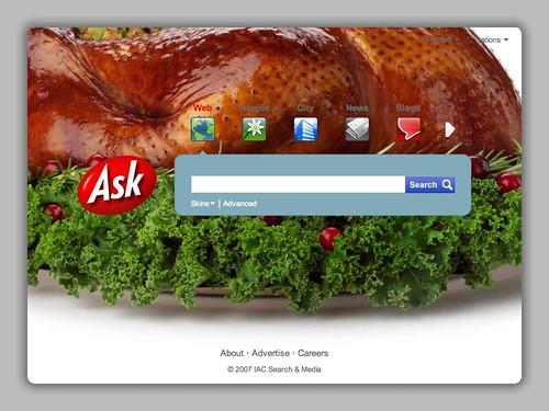 Ask.com Thanksgiving Logo 2007