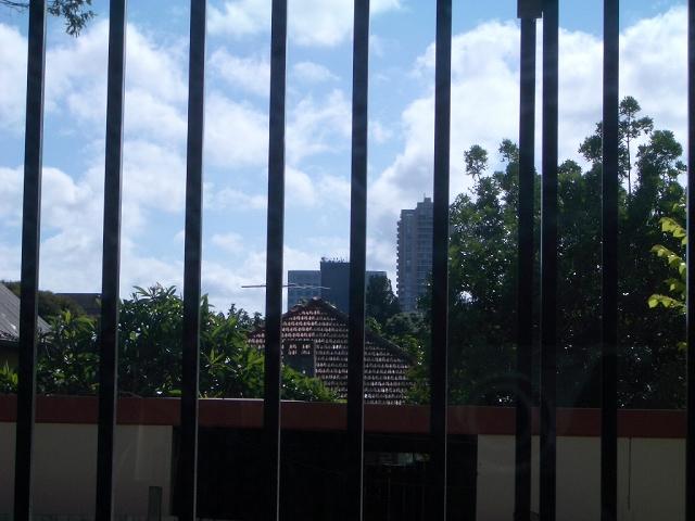 Behind the bars...