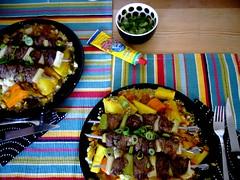 lammspieße mit gemüse und couscous