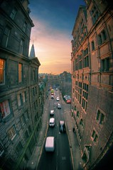 Narrow street, Edinburgh (The Other Martin Tenbones) Tags: street scotland edinburgh fisheye hdr