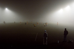 Friday night football in the fog (johanna) Tags: fog football osnossosfutebis