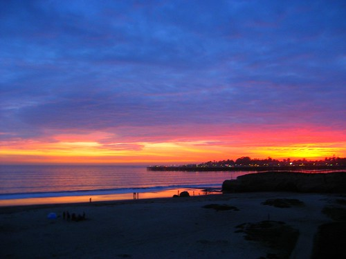 Christmas Sunset in Santa Cruz