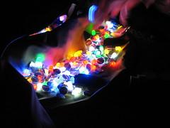 Balloons lit up II (Lolo_) Tags: light balloons marseille lumière newyear stack led pile nouvelan litup iko préparation multicolore