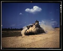 An M-3 tank in action, Ft. Knox, Ky.  (LOC) (The Library of Congress) Tags: june army war tank fort kentucky military wwii palmer worldwarii lee ww2 libraryofcongress 1942 dust m3 fortknox worldwar2 usarmy wartime xmlns:dc=httppurlorgdcelements11 dc:identifier=httphdllocgovlocpnpfsac1a35203 alfredtpalmer june1942 alfredpalmer m3lee kickingupdust fortknoxky m3tank m3leetank leetank