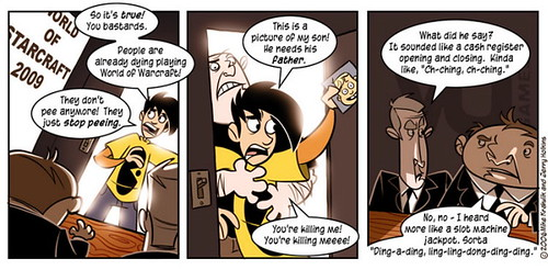 Penny Arcade World of StarCraft 2009 Comic