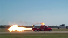 Trick Exhaust (Jobe Roco) Tags: red truck fire louisiana 2000 lafayette jet flame gmc 0653 sertomaairshow