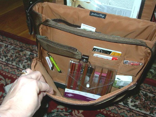 Inside flap carries what I would normally carry in a Handbag