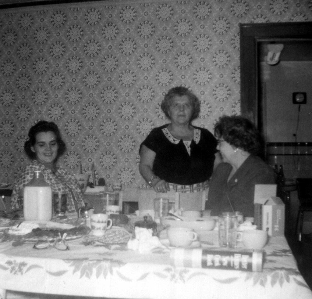Mom, Grandma, Aunt Bernice Christmas 1959