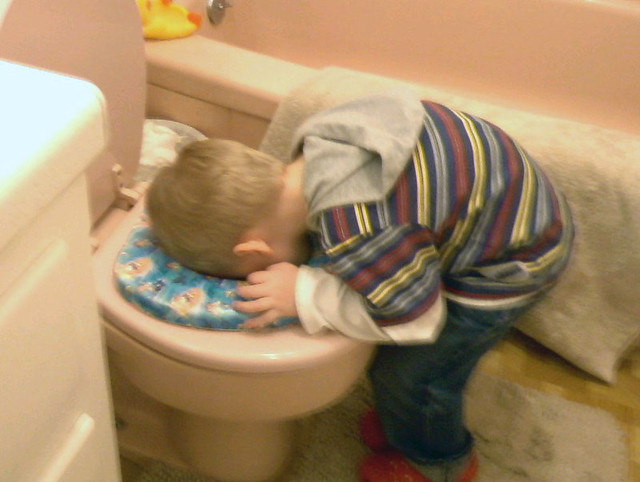 """How's his potty training going?"" ""Oh, okay I guess."""