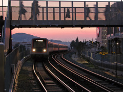 / Neratziotisa (Dimitris G.) Tags: station train metro dusk hellas greece 5favs  isap  ilovemypic  neratziotisa