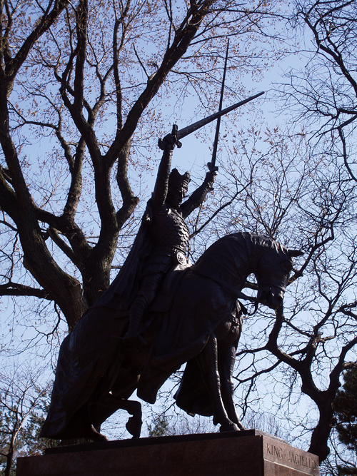 King Jagiello sculpture, Central Park, NYC