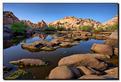In God's Country (Fraggle Red) Tags: california ca trees lake reflections evening nationalpark bravo rocks afternoon jpeg hdr mojavedesert joshuatreenationalpark bolders barkerdam canonefs1022mmf3545usm naturesfinest desertpark supershot 6exp ourplanet diamondclassphotographer flickrdiamond megashot riversideco adoublefave picturefantastic dphdr goldstaraward natureselegantshots absolutelystunningscapes