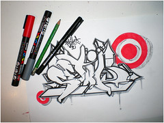 Setik01 sketch + equipment (Setik01) Tags: urban streetart art netherlands graffiti design sketch paint tag letters nederland culture style peinture hiphop spraypaint graff piece aerosol 2008 bombing spraycan hoofddorp blackbook graffing setik