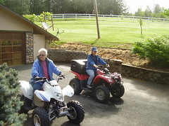 Pat and Karen on two of the quads