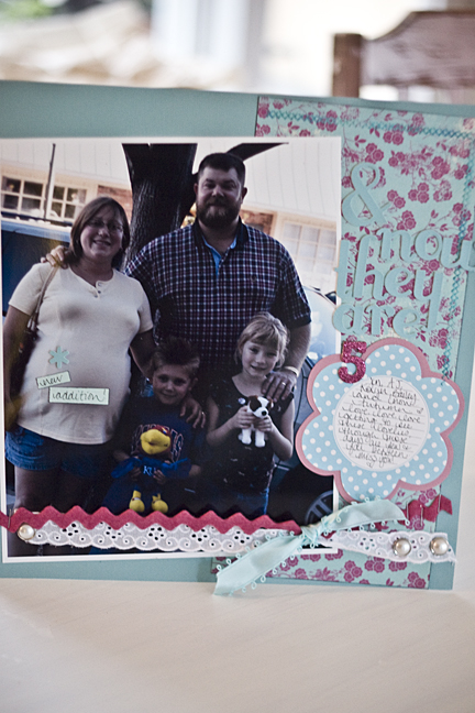 and now they are five scrapbook page