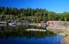 Stockholm archipelago (Globalviewfinder) Tags: trip travel summer vacation sun holiday reflection water europe break sweden stockholm weekend backpacker grinda archipelago scandanavia nikond80