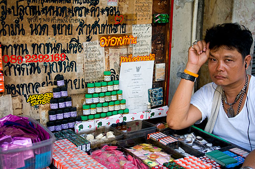 Selling sexual aids in Bangkok's Chinatown
