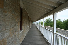 Porch in Perspective (lars hammar) Tags: history minnesota soldier army fort military perspective stpaul historic porch barracks fortsnelling minnesotahistoricalsociety