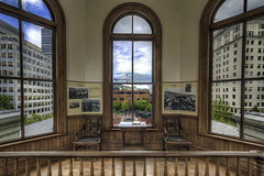 Inside The Pioneer Courthouse Cupola - HDR (David Gn Photography) Tags: windows usa architecture oregon portland downtown chairs landmark historic cupola attic government pdx law antiques gsa federal hdr judges judicial uscourtofappeals nationalhistoriclandmark 3xp nationalregisterofhistoricplaces ninthcircuit canoneos7d thepioneercourthouse sigma1020mmf35exdchsm mygearandme sigma50th pioneercourtshouesquare