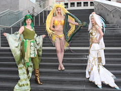 Rydia, Siren, and Princess Ashe from Final Fantasy (Ardias) Tags: cosplay weddingdress finalfantasy playstation siren finalfantasyviii rydia finalfantasyiv finalfantasyxii finalfantasy8 princessashe guardianforce az2011 animazement2011
