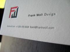 Frank Woll Designs Letterpress Card
