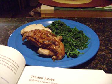 adobo chicken plate