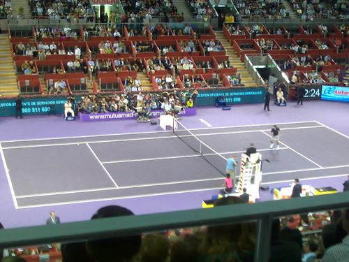 Calentamiento de Roger Federer