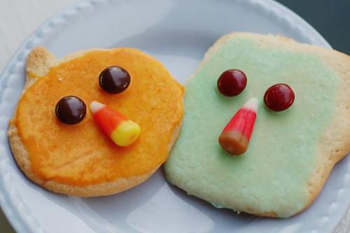 Halloween cookies cubist style.