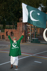 crowd pleaser (Michael Foley Photography) Tags: sunset border flags soldiers lowering indiapakistan wahagh babamehardin