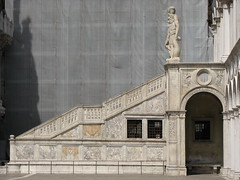Stairs in the courtyard of Doge's Palace
