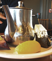 Hot Tea Pot With Lemon