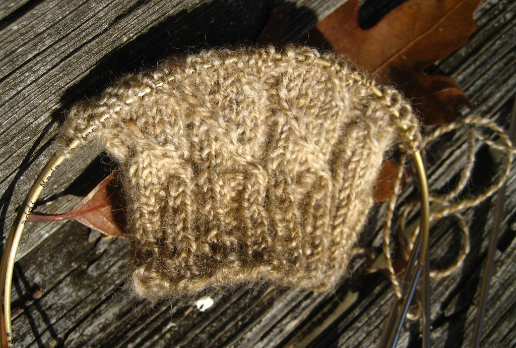 Manly Mitts in BFL handspun