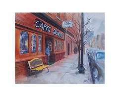 Cafe Graffiti by Debbie Snow