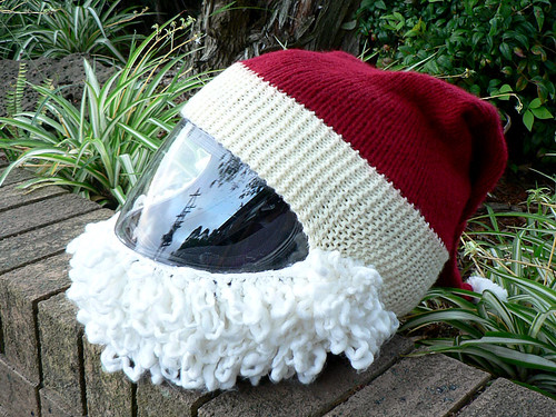 Knitting Pattern for Santa Helmet | Salihan Crafts Blog