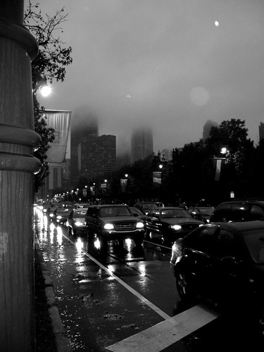 Parkway in the Rain, Philadelphia by SmileyReilly.