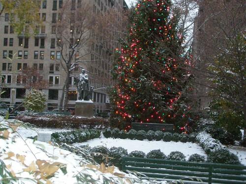 Primera nevada de la temporada Nueva York