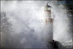 Lighthouse in the stormy sea (ornellab.) Tags: light sea lighthouse storm interesting nikon bravo lighthouses mare colours quality liguria wave camogli colori maredinverno voxpopuli marligure stormysea maremosso newphotographer abigfave maremediterraneo mediterraneosea theunforgettablepictures betterthangood lppatterns ornellab