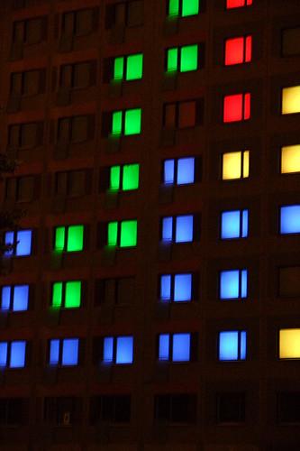 """Tetris, pedant l'évènement """"Mikontalo"""", finlande, part kroimela."""