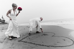 Heartfelt Moment (Jacob K. Cunningham) Tags: ca wedding usa white beach santabarbara couple heart ceremony marriage wed cunningham weddings smrgsbord jacobkcunningham