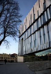 Uppsala concert hall exterior (d.lindholm) Tags: architecture modern aluminum sweden uppsala concerthall ukk nikon18200mm nikond40x uppsalakonsertochkongress uppsalaconcerthall