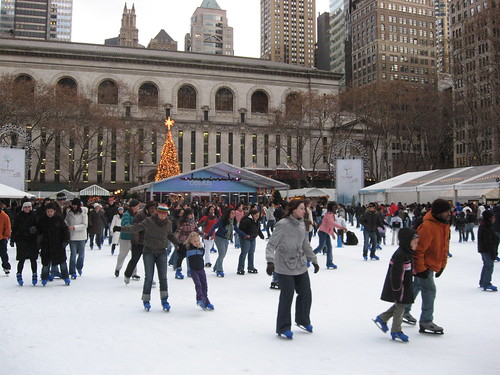 Ice Skating, Bryant Park