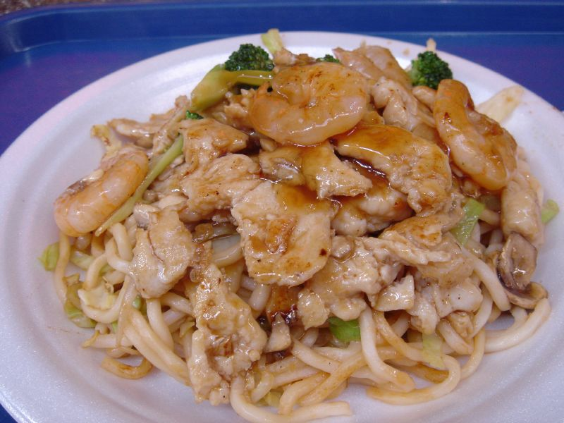 Chicken and Shrimp Yakisoba