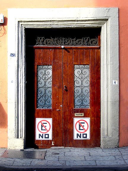 No Parking in Oaxaca