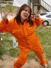 1 (Inmate #191172) Tags: orange uniform dress prison jail coverall jumpsuit overall roleplay prp strfling gefngnis gefangene womanfrau