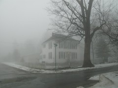 Home in the Fog (mereshadow) Tags: world fog corner whitepicketfence pietyhill greenvilleillinois february42008