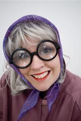 FDF - you old hag! (Mrs Brownhorse / Baby Brownhorse) Tags: old glasses niceshot coat oldlady fdf blondwig fancydressfriday mrsbrownhorse