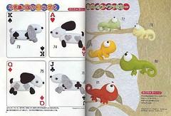 Co baralho de cartas (Monte de Linhas) Tags: feltro moldes aplicaes tralhaemoldes