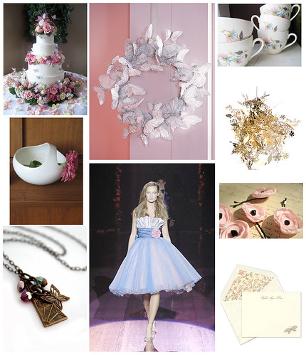 Inspiration Board for a Butterfly party