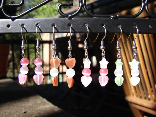 Catseye hearts and stars earrings